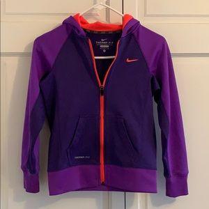 purple nike zip up